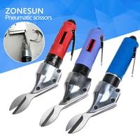 ZONESUN Powerful Pneumatic Scissors Nipper Air Metal Cutter Shears Cutting Tools