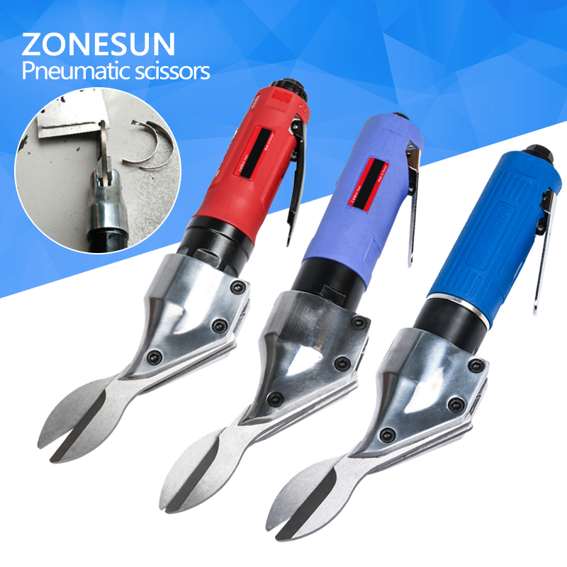 ZONESUN Powerful Pneumatic Scissors nipper, Air Metal cutter shears, cutting tools верни свое здоровье
