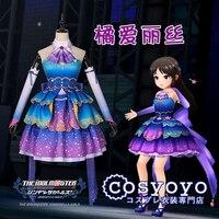 Алиса идол Костюм Золушки для косплея фиолетовое платье Лолита великолепное платье A