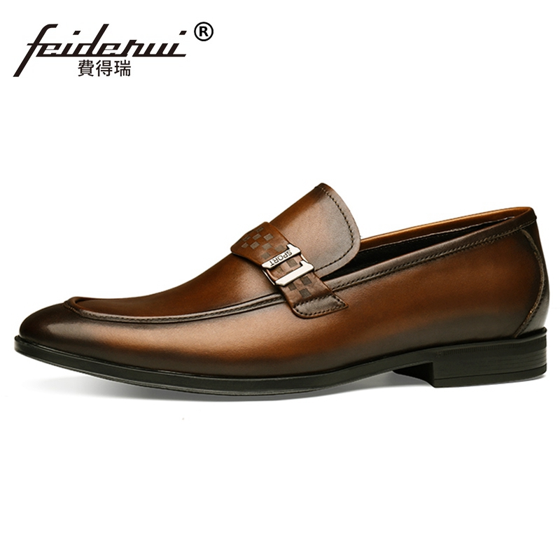 2019 High Quality Man Casual Shoes Genuine Leather Comfortable Loafers Handcrafted Brand Mens Formal Dress Footwear JS2702019 High Quality Man Casual Shoes Genuine Leather Comfortable Loafers Handcrafted Brand Mens Formal Dress Footwear JS270