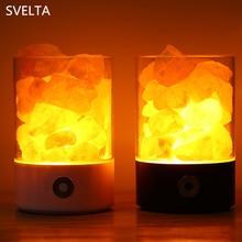 SVELTA Crystal Salt LED Night Light Himalayan Crystal Rock Salt Lava Lamp Night Light Creator Indoor Air Purifier Table Lamp цена и фото