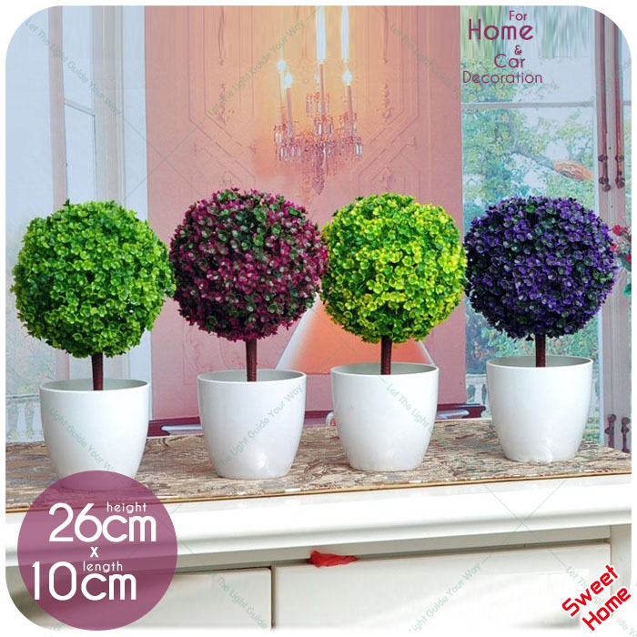 Artificial potted plants ball bonsai decorative green for Plantas decorativas para oficina