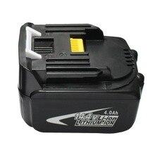 14.4 В 4.0Ah 4000 мАч литий-ионная батарея для Makita аккумуляторные инструменты BL1430 BL1440 194558-0 194559 -8 Бесплатная доставка