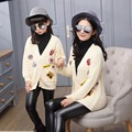 Spring&Autumn Family Clothing Matching Mother And Daughter Clothes  Labeling Sweater Coat Autumn Fashion Parent-child jacket  L