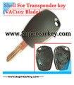 Frete grátis (5 pcs) Novo Transponder chave Com Lâmina VAC102 Renault Para O Tamanho Grande
