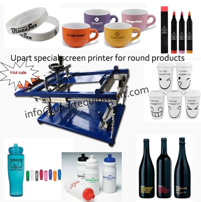 2016 hot sale bottles/pens/cups/mugs manual screen printer machine