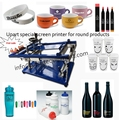 2016  hot sale bottles/pens/cups/mugs manual screen printer machine