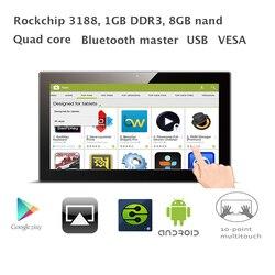 15.6 بوصة رباعية النواة الروبوت جميع في واحد حاسوب شخصي مكتبي (RK3188 1 GB RAM 8 GB فلاش nand ، بلوتوث ، VESA الجدار قوس)