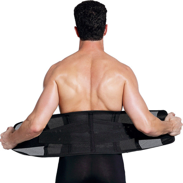Sports Fitness Waist Support Slimming Belly Shaper Sweating Waist Band Elastic Pressure Bandage Adjustable Belt Training For Men 4