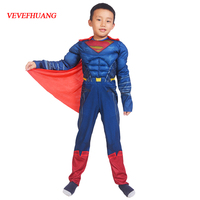 VEVEFHUANG High Quality Children Superman Cosplay Clothing Halloween Costume For Kids