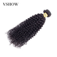 VSHOW Malaysian Kinky Curly Bundles 100% Human Hair Bundles Remy Hair Extension Can Buy 3 Or 4 PC Malaysian Hair Weave Bundles