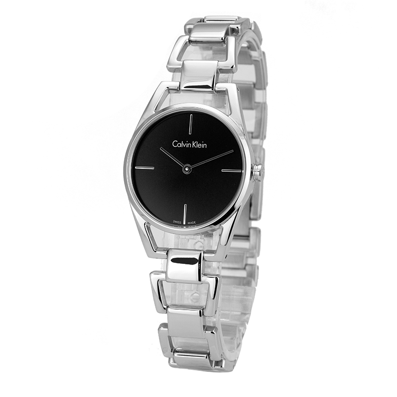 CalvinKlein DAINTY series Simple black quartz ladies watch K7L23141 цена и фото