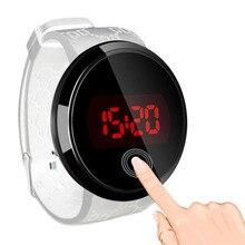 MJARTORIA 2017 Digital LED Watch Men Women Silicone Sports Watches Men Wrist Watch Digital Touch Screen Running Watch Gift