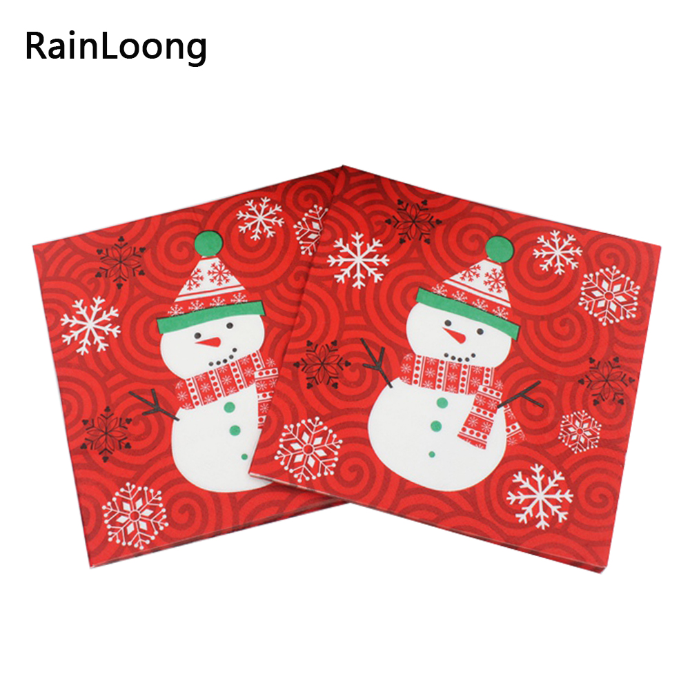 [Rainloong] rojo festivo y fiesta decoración tejido servilleta servilletas de du
