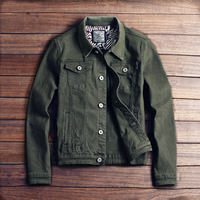 2019 New hot slim mens jackets and coats casual denim jacket men veste homme men jeans jacket male khaki black army green red