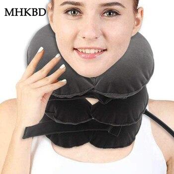 Aufblasbare Hals Traktion Therapie Zervikale Kragen Halswirbel Orthopädie Manuelle Massager Entspannung Korrektur Halskrause Gerät