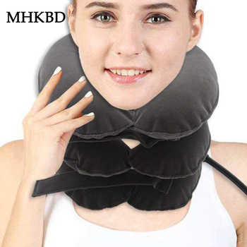 Inflatable Neck Traction Therapy Cervical Collar Vertebra Orthopedics Manual Massager Relaxation Corrective Neck Brace Device - DISCOUNT ITEM  31 OFF All Category