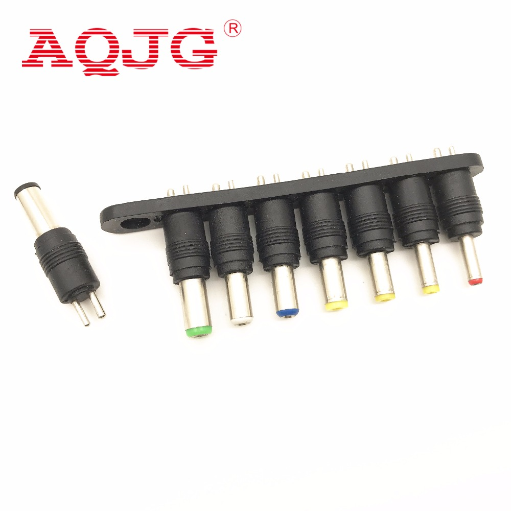 1Set//8PCS Universal AC DC Power Adapter Plug Charger Tips For PC Notebook Laptop