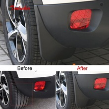 Tonlinker Exterior Wheel Mudguards Cover Stickers for Citroen C5 Aircorss 2018-19 Car Styling 4 PCS ABS Plastic sticker