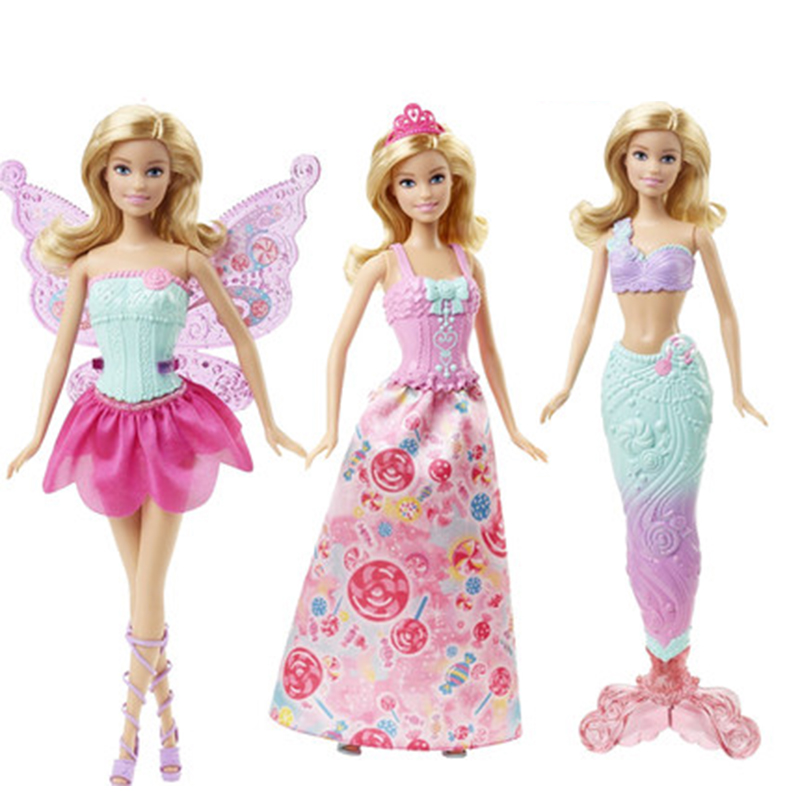 Barbie Original Baby 18 inch Doll Toy Princess Mermaid Dress Up Birthday Party Present Kids Toys for Girls Gift Boneca JuguetesBarbie Original Baby 18 inch Doll Toy Princess Mermaid Dress Up Birthday Party Present Kids Toys for Girls Gift Boneca Juguetes