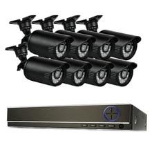 ISEEUSEE 8CH CCTV Security System 8 CH HDMI 720P AHD DVR 8PCS HD 720P Camera kit Video Surveillance System