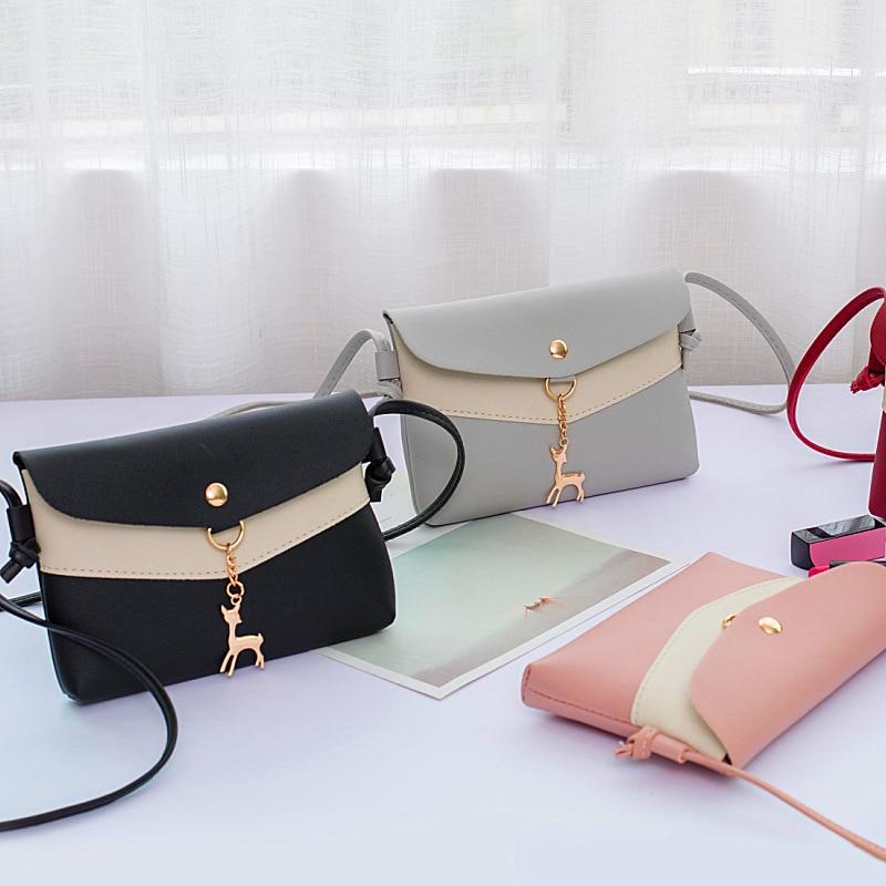 Women Leather Handbag Satchel Simple Smooth Lightweight Durable Messenger Bag Best Sale-WT