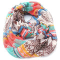 2017 Hot Fashion Chevron Cashew Loop Shawl Female Stripe Plaid Print Ring Scarves Women Winter Flower Geometric Infinity Scarf