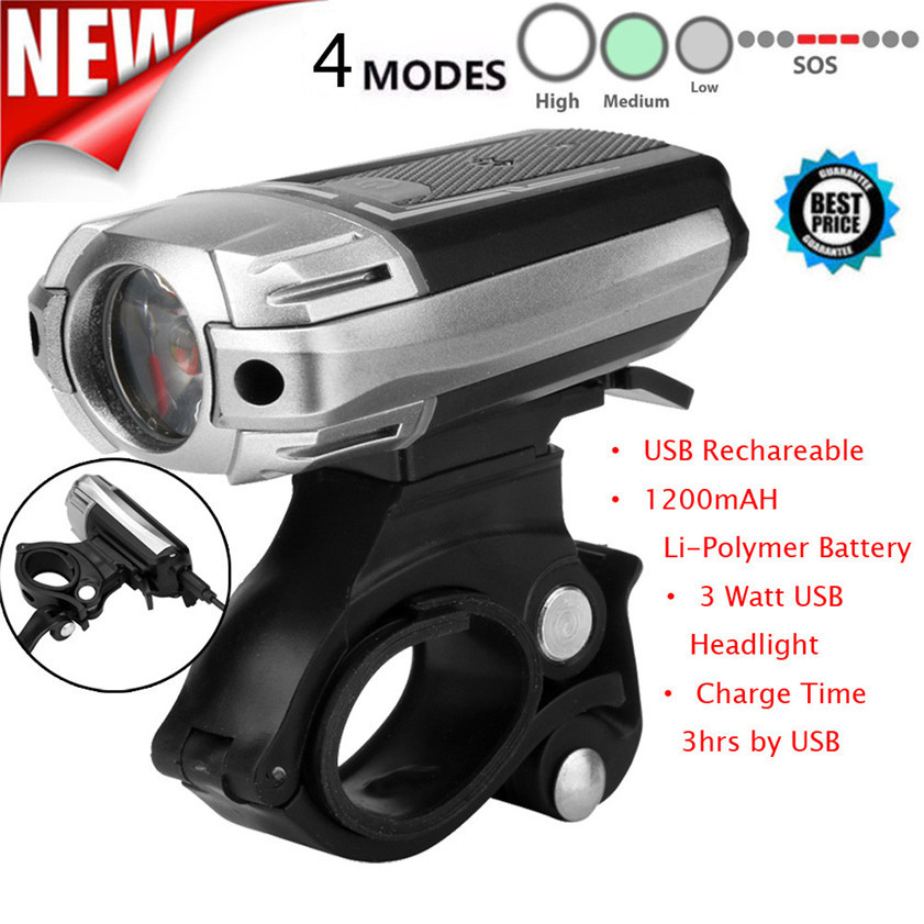 High Quality Top Set Led Bicycle Light Usb Rechargable Bike Lights Front Lamp Safety