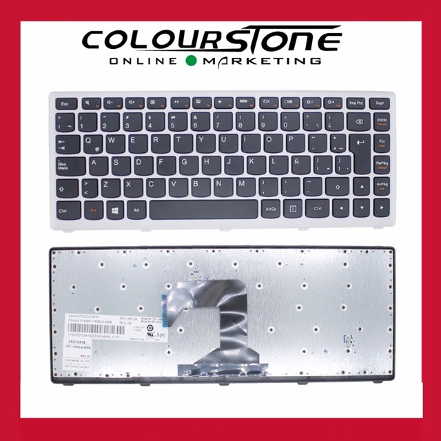 Л. а. Латинской teclado клавиатура ноутбука для Lenovo S300 S400 S405 S400T M30-70 клавиатура с серебряной оправе MP-11K96LA-686B
