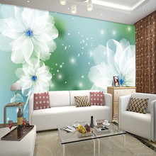 European custom size mural living room bedroom 3D TV backgro
