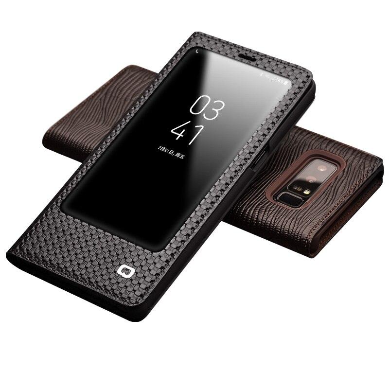 QIALINO Ultra-Mince Flip Luxe Véritable Étui En Cuir pour Samsung Galaxy Note 8 Mode Stents Couverture Sac pour Samsung note8 6.3-pouces