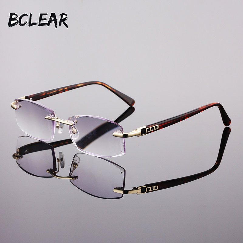 BCLEAR New fashion <font><b>men</b></font> rimless <font><b>reading</b></font> <font><b>glasses</b></font> +1.00 +1.50 +<font><b>2.00</b></font> +2.50 +3.00 +3.50 +4.00 frameless <font><b>reading</b></font> eyeglass high quality image