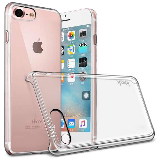 separation shoes 6be04 ffa33 US $4.38 |IMAK for iPhone 7 7Plus Clear Crystal Silicone Wearproof Case  Wearable Hard Case for iPhone 7Plus Covers-in Half-wrapped Case from ...