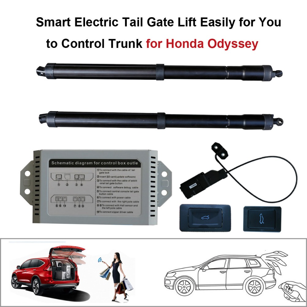 Smart Auto Electric Tail Gate Lift For Honda Odyssey Control Set Height Avoid Pinch