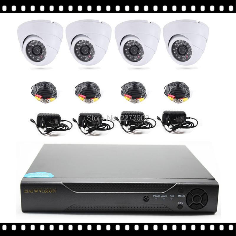 ФОТО 4 Channel Video Surveillance Camera Kit with indoor ir dome ahd camera