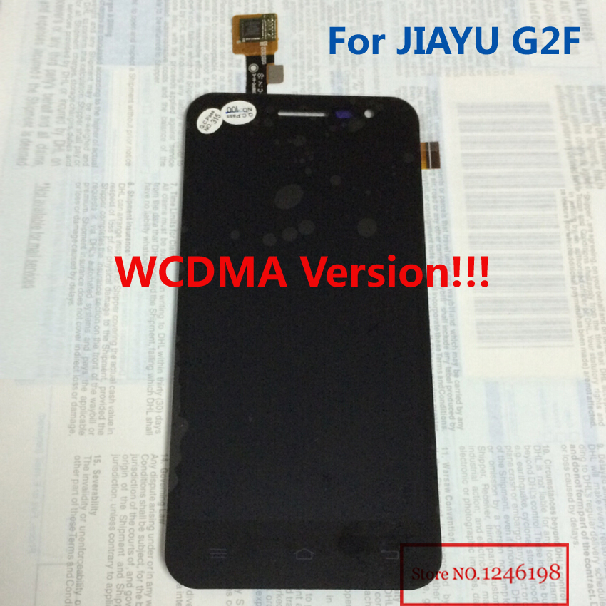 imágenes para WCDMA Solamente!!! g2f negro Completo Pantalla LCD Asamblea de Pantalla Táctil Para JIAYU G2F Teléfono Móvil piezas de Repuesto