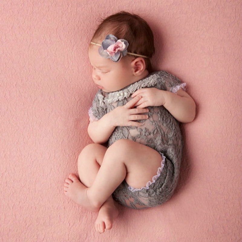 Newborn Baby Photography Props Accessories Infant Photography Clothing Baby Girl Lace Romper Studio Baby Photo Props Jumpsuits