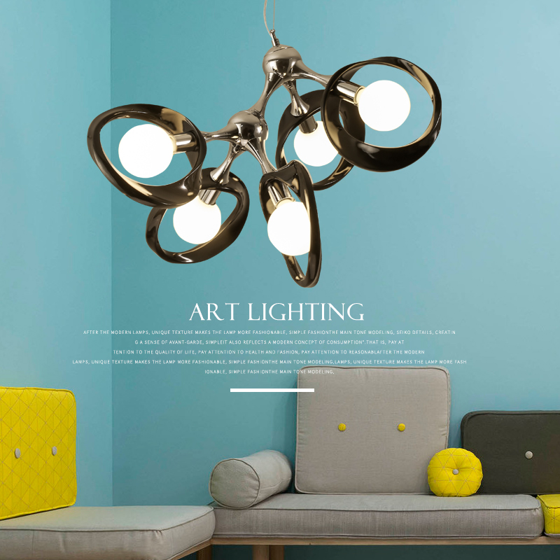 Nordic postmodern chandelier simple bedroom living room restaurant bar creative personality store lighting pendant Light 2219 creative iron triangle pendant lights personality bar living room bedroom clothing store lighting pendant lamps za fg328