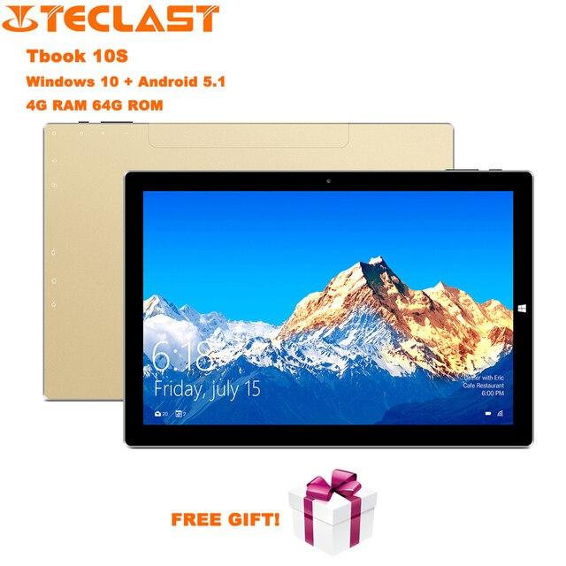 Teclast Tbook 10 S WIFI Tablet PC 10.1 inch Windows Tablet Intel Cherry Trail X5 Z8350 Quad Core 1.44 GHz 4 GB RAM 64 GB ROM BT4.0