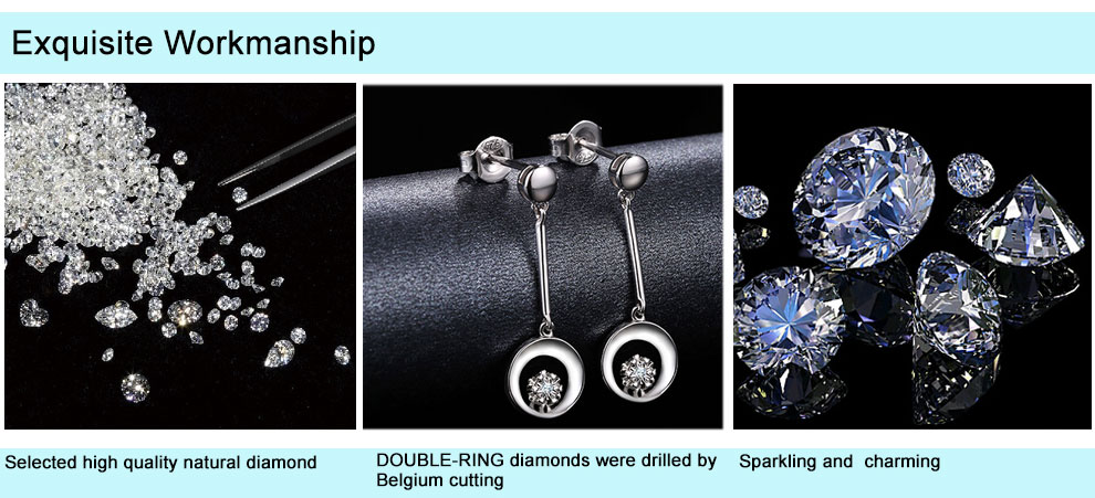 silver diamond earrings CAE01844SA (10)