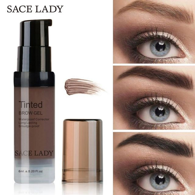 SACE LADY 6 Colors Henna Eyebrow Gel Waterproof Tint Makeup Brush Set Long Lasting Eyebrow Gel Make Up Paint Pomade Cosmetic