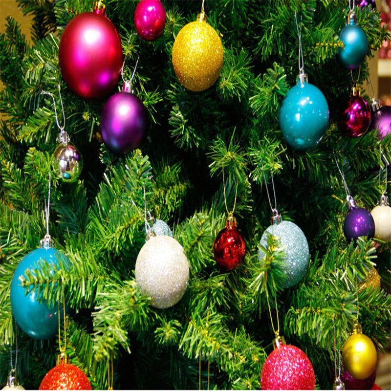 24pcs plastic christmas tree xmas balls decorations baubles party wedding ornament candy color christmas ball ornaments in ball ornaments from home garden - Christmas Balls Ornaments