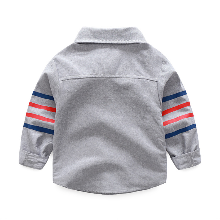 HTB15cfhXf5TBuNjSspmq6yDRVXaa - 1-5 years Baby shirts 20018 spring new casual 4 bars turn down collar long sleeved children boys clothes autumn outwear
