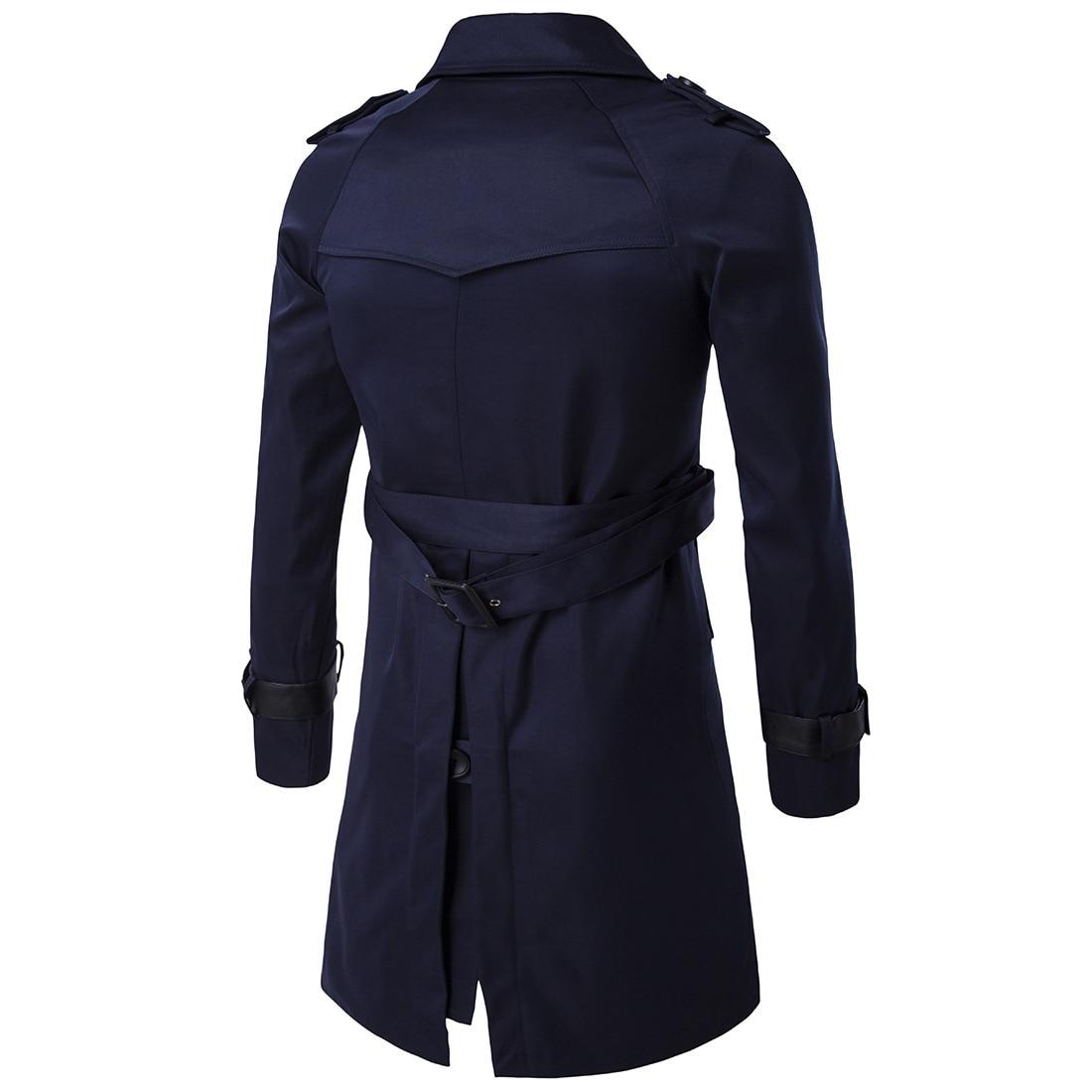 НОВЫЙ Тренч, Мужская брендовая одежда, высокое качество, мужской Тренч, новинка 2017, модное дизайнерское мужское длинное пальто, Осень зима - 5