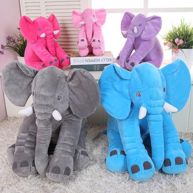 Baby Bedding 28*33cm Elephant Pillow Soft Newborn Baby Pillow Baby Dolls Bed Seat Cushion Baby Elephant Pillow Kids Bedding