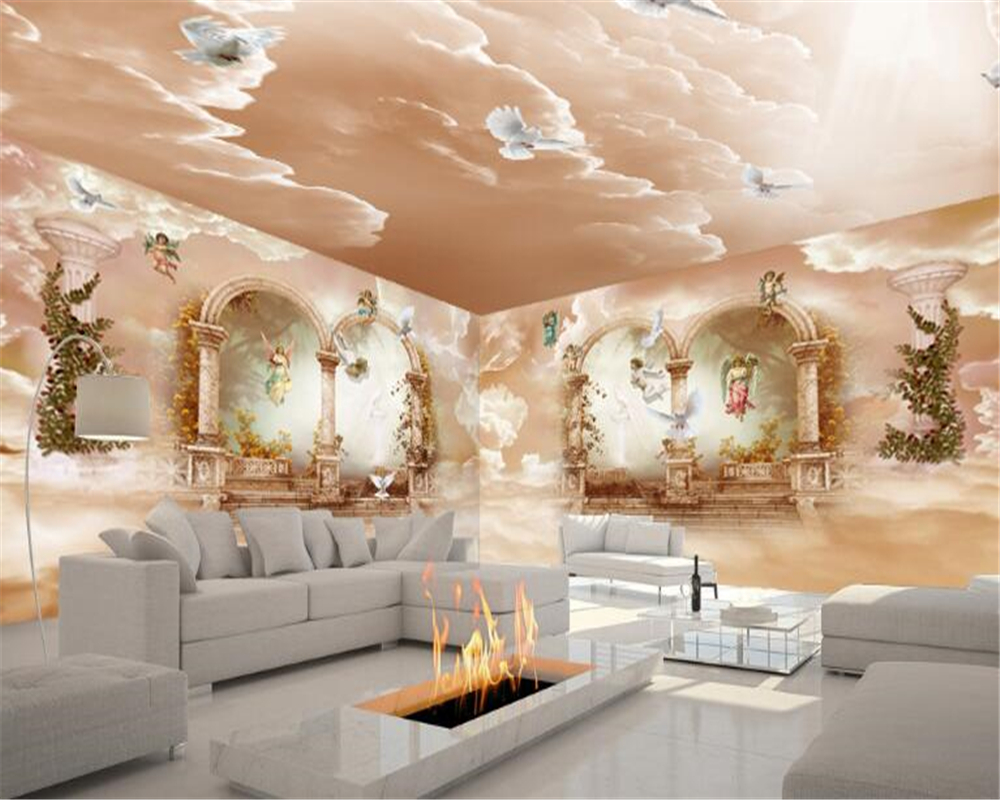 Beibehang creative luxury european arches large column full house theme space background waterproof papel de parede 3d wallpaper