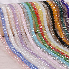 Pick Size 2 3 4 6 8mm Czech Loose Rondelle Crystal Beads For Jewelry Making Diy Needlework AB Color Spacer Faceted Glass Beads(China)