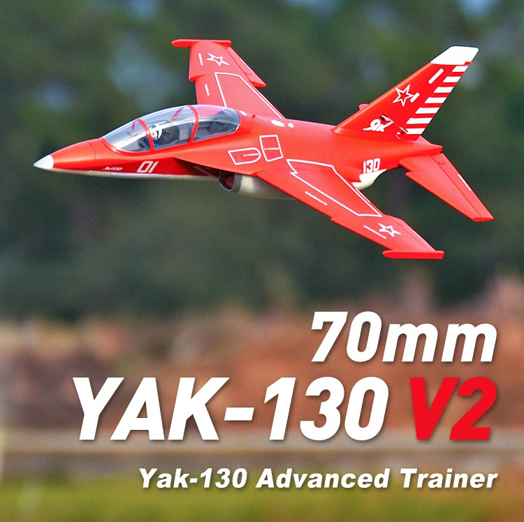 FMS 70mm Yak-130 Yak130 V2 Ventilateur Soufflant EDF Jet 6 S 6CH Avec Volets Se Rétracte PNP OEB RC Modèle D'avion Avion Avion Avion NOUVEAU