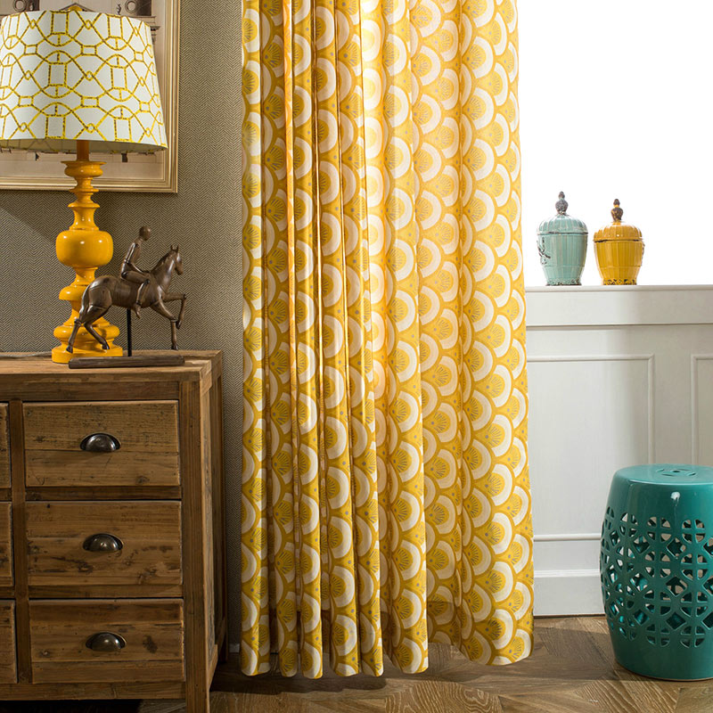 Simple Geometric Cotton Yellow Curtain Curtains For Bedroom Curtains For  Living Room Modern Curtains Cloth Windows In Curtains From Home U0026 Garden On  ...
