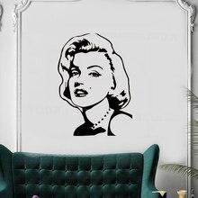 Marilyn Monroe Wall Decal Classic Vinyl Sticker Waterproof Bedroom Girls Room Art Mural Adhesive Inspiring Home DecorSYY729